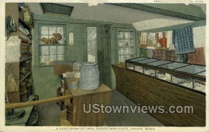 A Cent Shop, Essex Institute - Salem, Massachusetts MA Postcard