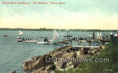 Motor Boat Landing - Salem, Massachusetts MA Postcard