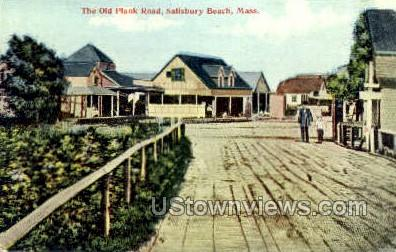 The Old Plank Road - Salisbury Beach, Massachusetts MA Postcard