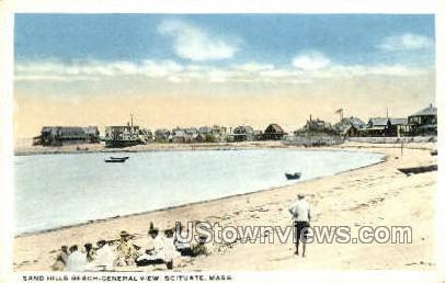 Sand Hills Beach - Scituate, Massachusetts MA Postcard