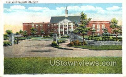 High School - Scituate, Massachusetts MA Postcard
