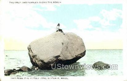 Pebble - Scituate, Massachusetts MA Postcard