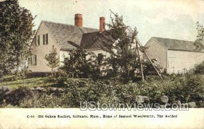 Home of Samuel Woodworth - Scituate, Massachusetts MA Postcard