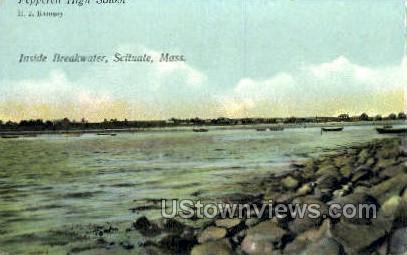 Inside Breakwater - Scituate, Massachusetts MA Postcard
