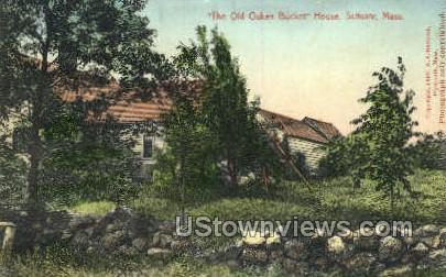 Old Oaken Bucket House - Scituate, Massachusetts MA Postcard