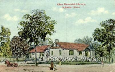 Allen Memorial Library - Scituate, Massachusetts MA Postcard