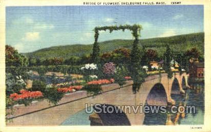 Bridge of Flowers - Shelburne Falls, Massachusetts MA Postcard