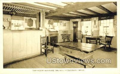 Tap Room, Wayside Inn - South Sudbury, Massachusetts MA Postcard