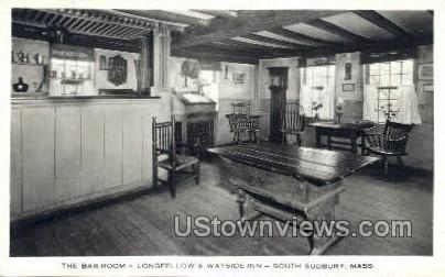 Real Photo The Bar Room - South Sudbury, Massachusetts MA Postcard