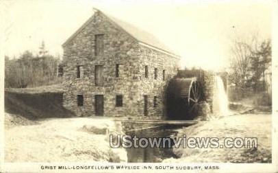 Real Photo Grist Mill - South Sudbury, Massachusetts MA Postcard