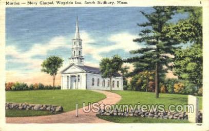 Mary Chapel, Wayside Inn - South Sudbury, Massachusetts MA Postcard
