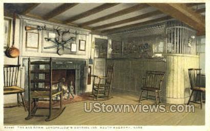 The Bar Room, Wayside Inn - South Sudbury, Massachusetts MA Postcard