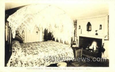 Washington Bed Room - South Sudbury, Massachusetts MA Postcard