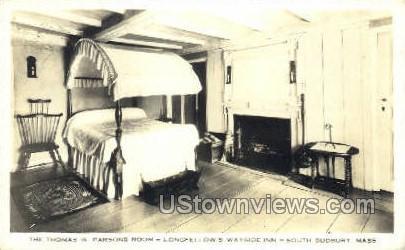 Thomas W. Parsons Room - South Sudbury, Massachusetts MA Postcard