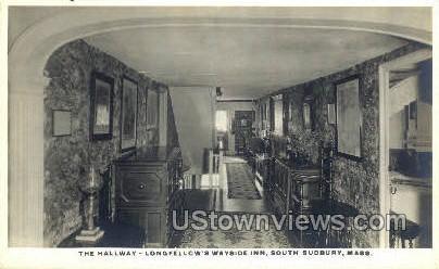 The Hallway, Wayside Inn - South Sudbury, Massachusetts MA Postcard