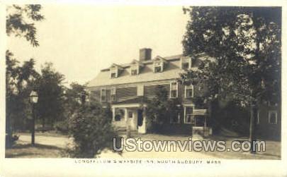 Real Photo Wayside Inn - South Sudbury, Massachusetts MA Postcard