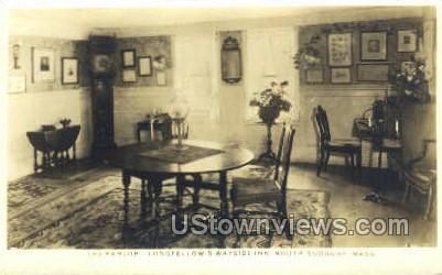 Real Photo The Parlor - South Sudbury, Massachusetts MA Postcard