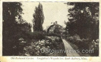Old Fashioned Garden - South Sudbury, Massachusetts MA Postcard