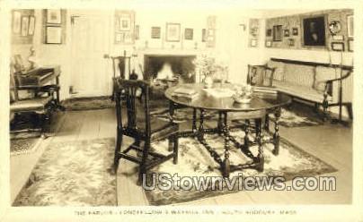 The Parlor, Wayside Inn - South Sudbury, Massachusetts MA Postcard
