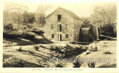 Grist Mill, Wayside Inn - South Sudbury, Massachusetts MA Postcard