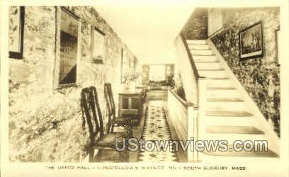 The Upper Hall, Wayside Inn - South Sudbury, Massachusetts MA Postcard