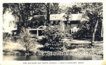 The Wayside Inn Trade School - South Sudbury, Massachusetts MA Postcard