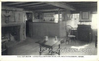 The Tap Room, Wayside Inn - South Sudbury, Massachusetts MA Postcard