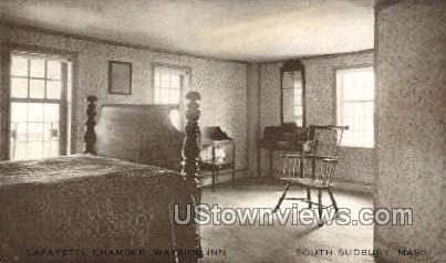 Lafayette Chamber, Wayside Inn - South Sudbury, Massachusetts MA Postcard