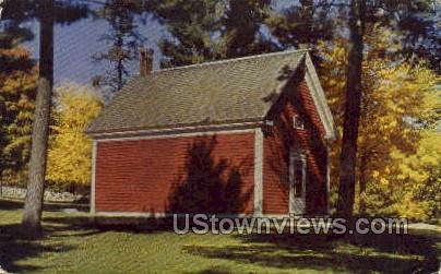 Little Red School House - South Sudbury, Massachusetts MA Postcard