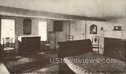 Longfellow Room - South Sudbury, Massachusetts MA Postcard
