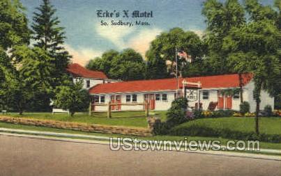 Erke's X Motel - South Sudbury, Massachusetts MA Postcard