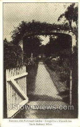 Entrance - South Sudbury, Massachusetts MA Postcard