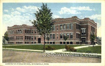 Kensington Ave. School - Springfield, Massachusetts MA Postcard