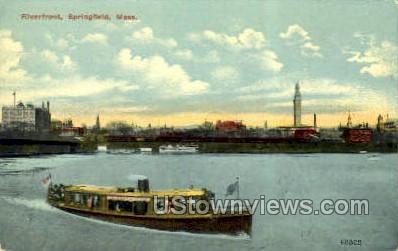 Riverfront - Springfield, Massachusetts MA Postcard