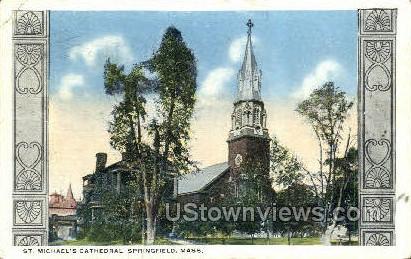 St. Michael's Cathedral - Springfield, Massachusetts MA Postcard