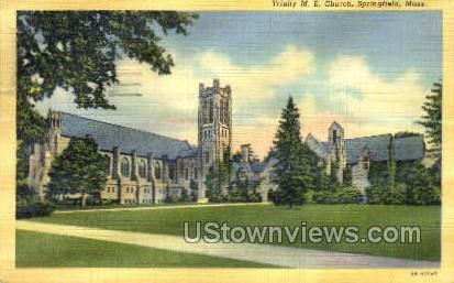 Trinity M.E. Church - Springfield, Massachusetts MA Postcard