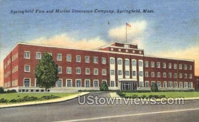Marine Insurance Company - Springfield, Massachusetts MA Postcard