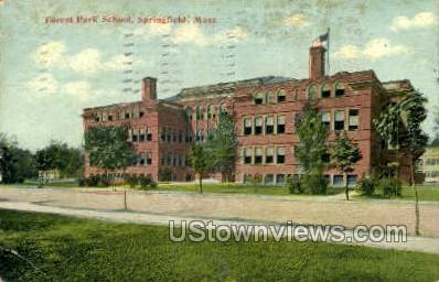 Forest Park School - Springfield, Massachusetts MA Postcard