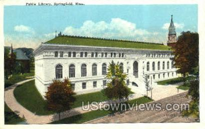 Public Library - Springfield, Massachusetts MA Postcard