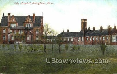City Hospital - Springfield, Massachusetts MA Postcard