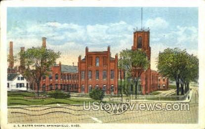 U.S. Water Shops - Springfield, Massachusetts MA Postcard