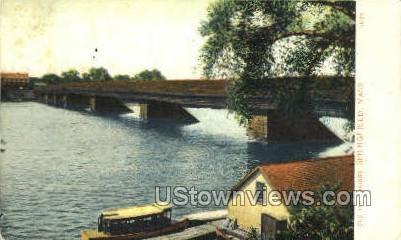 Old Toll Bridge - Springfield, Massachusetts MA Postcard