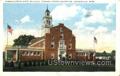 Mass State Building - Springfield, Massachusetts MA Postcard