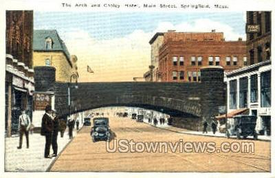 The Arch & Cooley Hotel - Springfield, Massachusetts MA Postcard