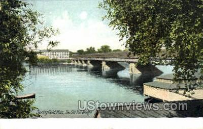 The Old Toll Bridge - Springfield, Massachusetts MA Postcard
