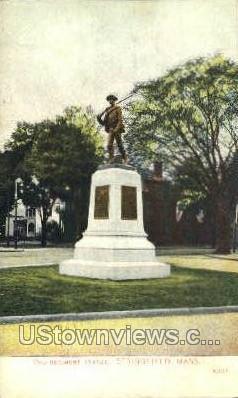 2nd Regiment Statue - Springfield, Massachusetts MA Postcard