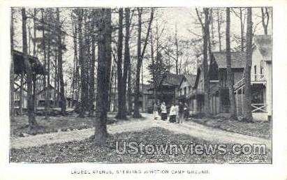 Laurel Ave. - Sterling Junction, Massachusetts MA Postcard