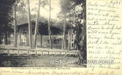 Sterling Camp Grounds - Sterling Junction, Massachusetts MA Postcard