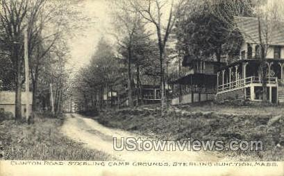 Sterling Camp Ground - Sterling Junction, Massachusetts MA Postcard
