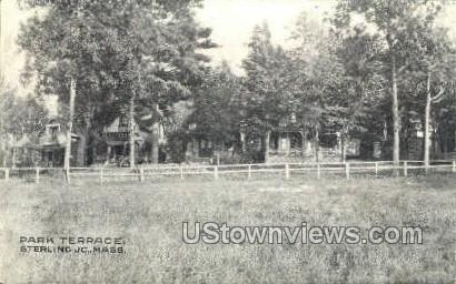 Park Terrace - Sterling Junction, Massachusetts MA Postcard